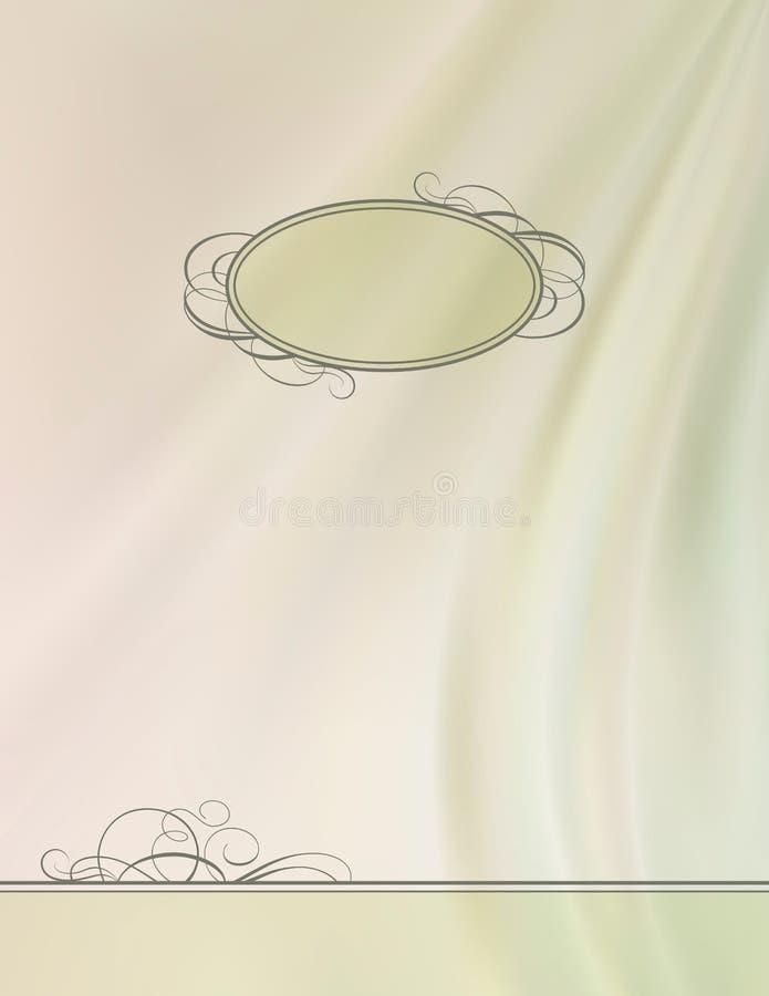 Vintage vector frame silk wave background. Vintage silk vector abstract wave card background with decorative frame, ornate border retro design, luxury cloth vector illustration