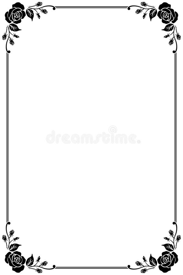 Vintage Vector Frame royalty free illustration