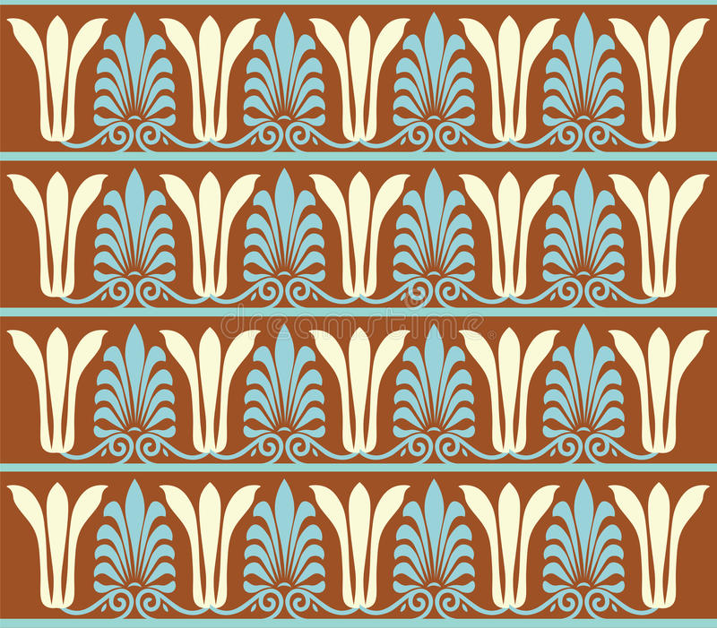 Vintage Vector Ornament Pattern Indian Style For Wallpaper Surface Textures Fabric Textile Swatch Mexican Egyptian Ethnic Round Gold Red