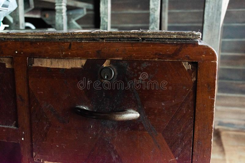 Vintage velho da tabela imagem de stock