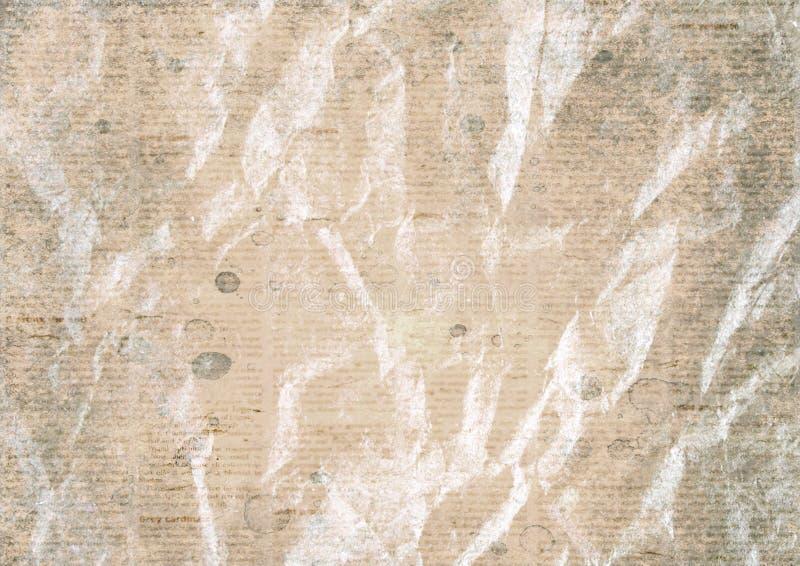 Vintage velho fundo amarrotado da textura do papel do jornal imagens de stock royalty free