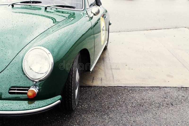 Vintage verde Porsche 356 imagem de stock