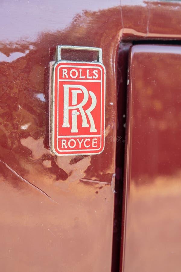 Vintage vermelho do crachá de Rolls Royce imagem de stock royalty free