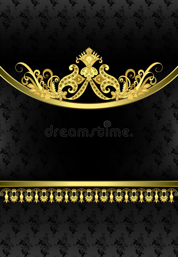 Free Vintage Vertical Frame With Golden Ornate Decor On The Oval Rim Royalty Free Stock Photos - 56339718