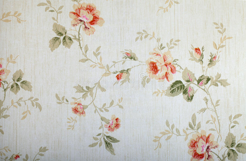 Vintage victorian wallpaper stock photos