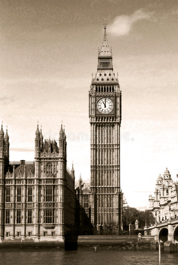 Download Vintage view of Big Ben stock photo. Image of sight, sightseeing - 25255864