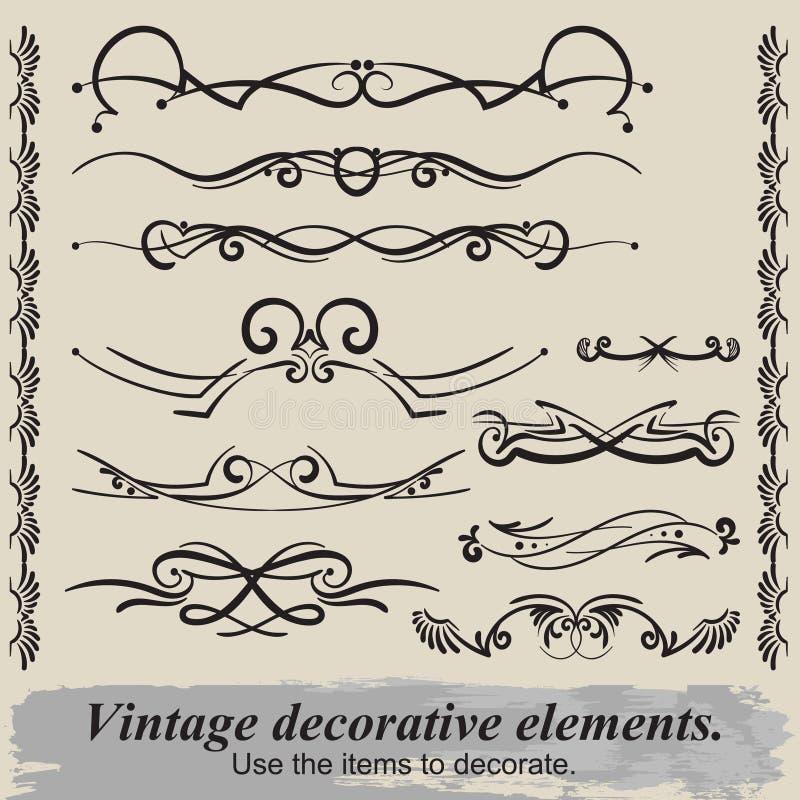 Vintage vignettes. royalty free stock photos