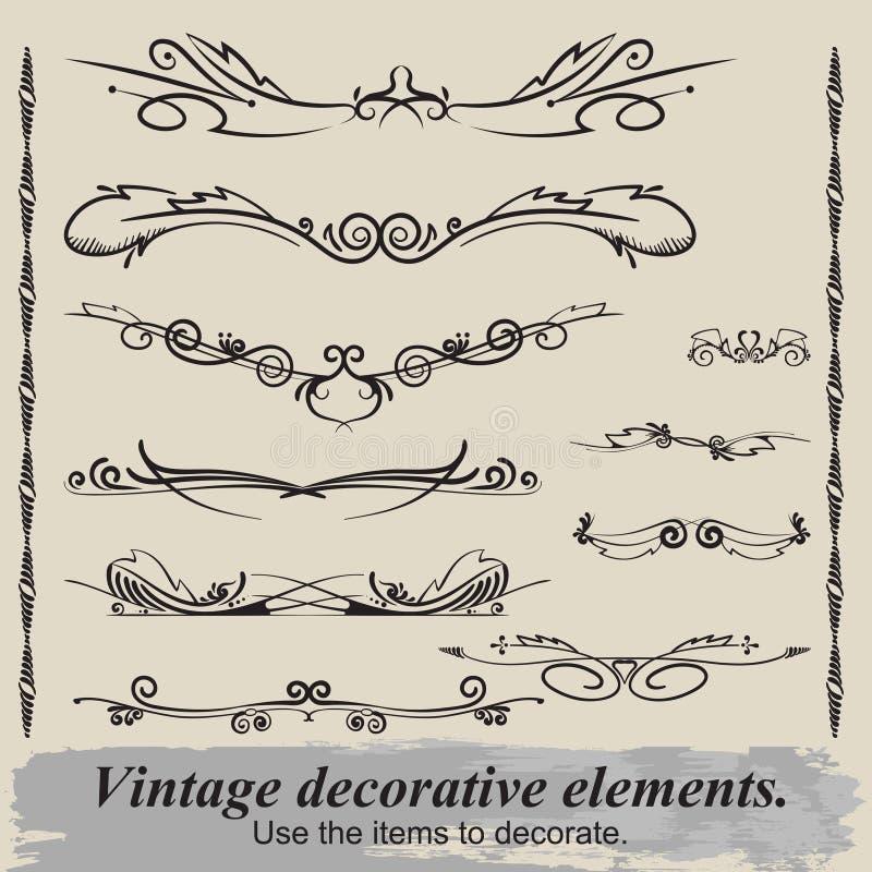 Vintage vignettes. stock images