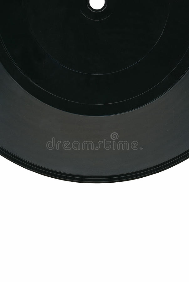 Vintage Vinyl 33rpm Record, Black Label, Clipping Royalty Free Stock Photos