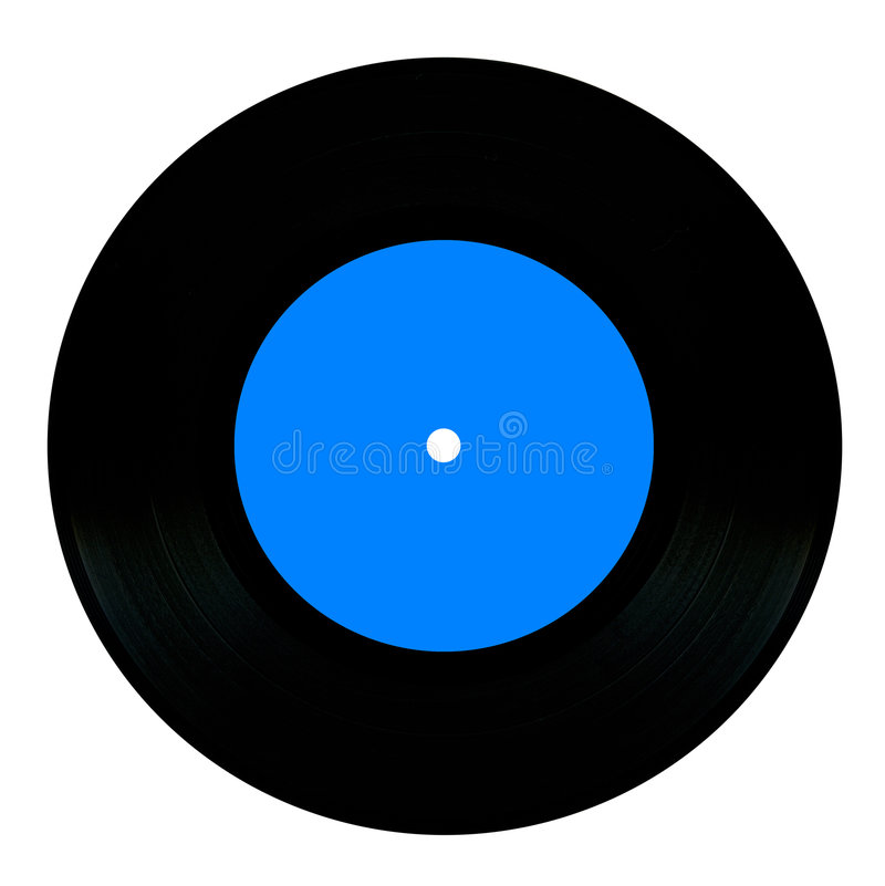 Vintage vinyl record. Isolated on white royalty free stock images