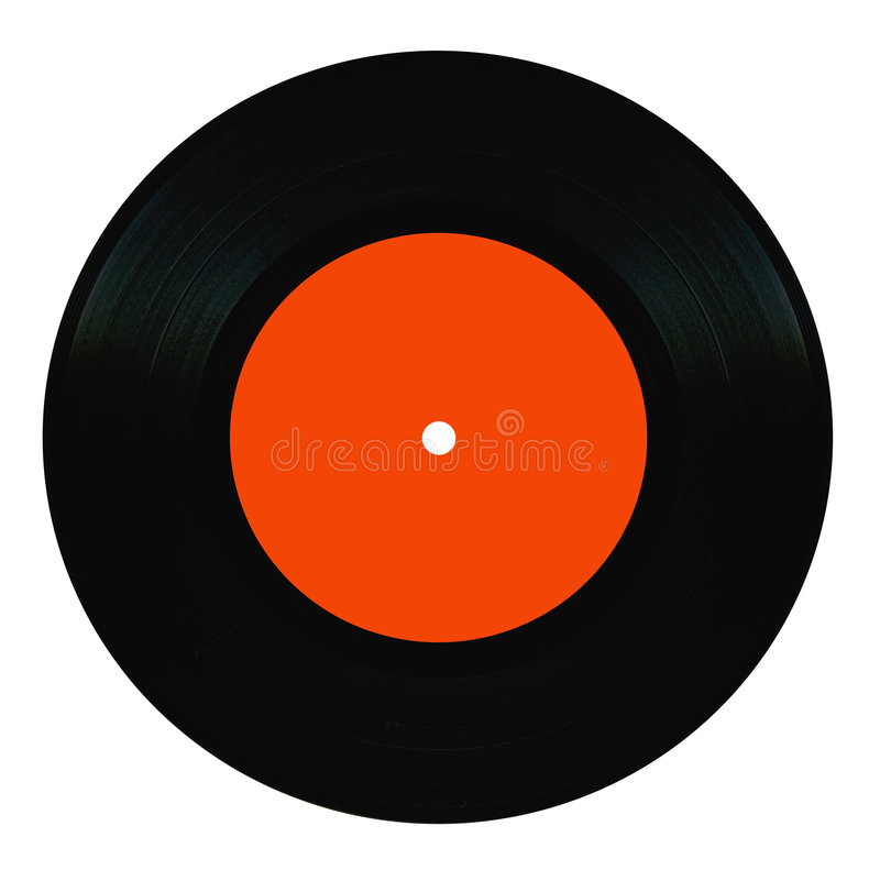Vintage vinyl record. Isolated on white royalty free stock photography