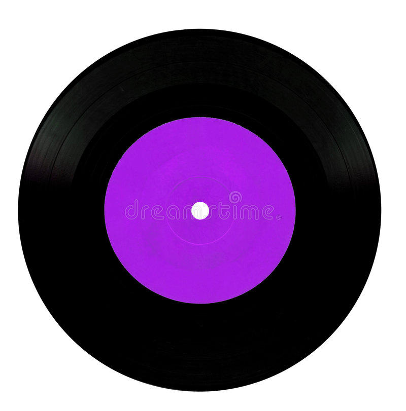 Vintage vinyl record. Isolated on white stock photography