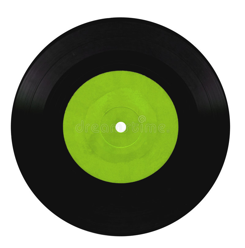 Vintage vinyl record. Isolated on white stock images
