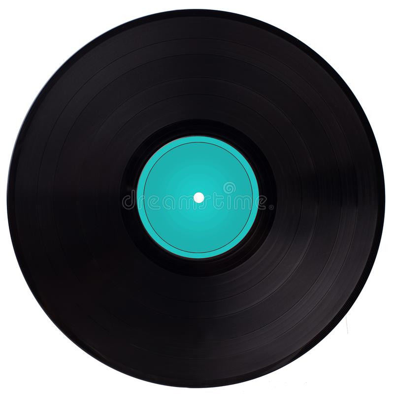 Vinyl Record With Blue Label Stock Photo Image Of Blue