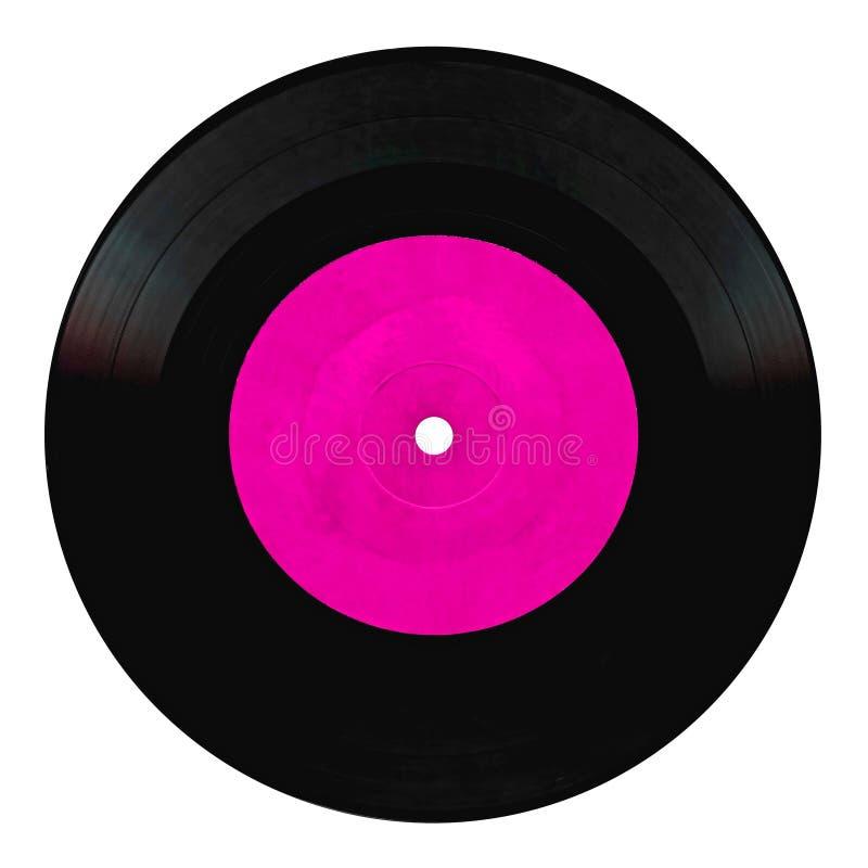Vintage vinyl record isolated on white. Background stock photo