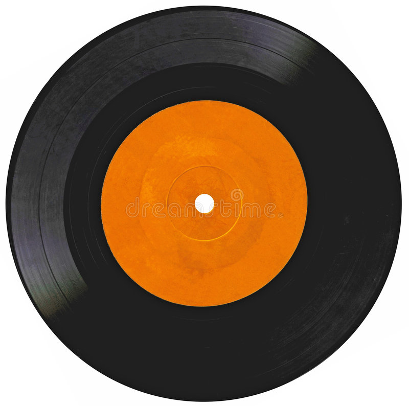 Vintage Vinyl Record Isolated On White Royalty Free Stock