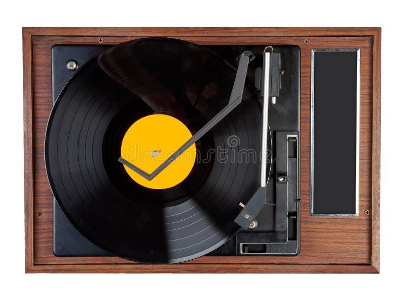 Vintage vinyl record. Old vinyl record with yellow vinyl royalty free stock photography