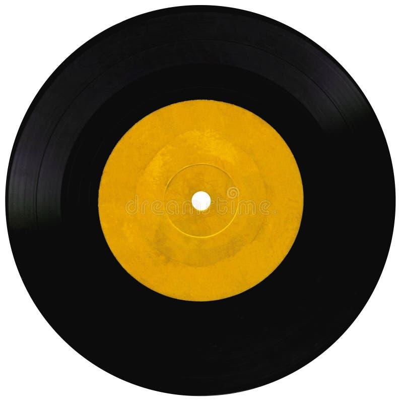 Vintage vinyl record on white. Vintage vinyl record isolated on white royalty free stock photo