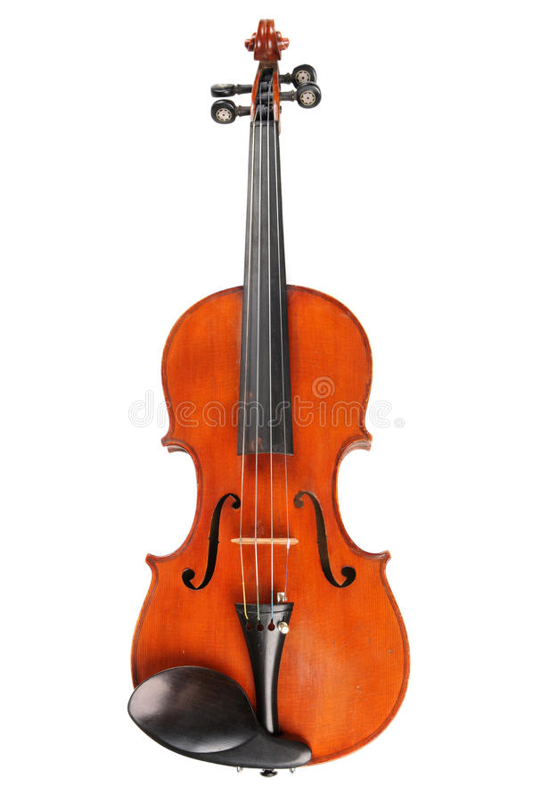 Vintage Violin in Frontal View stock photography