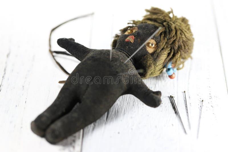 Voodoo doll stock image