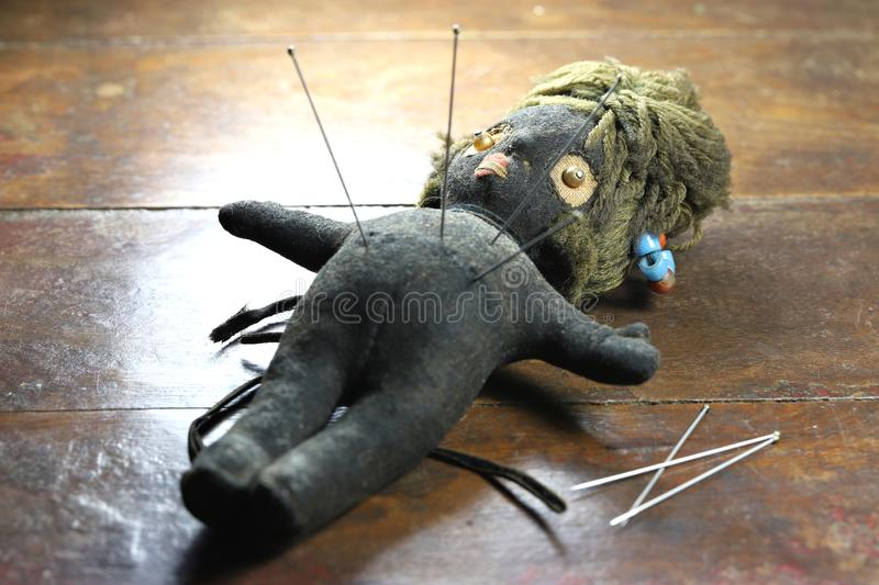 Voodoo doll stock image