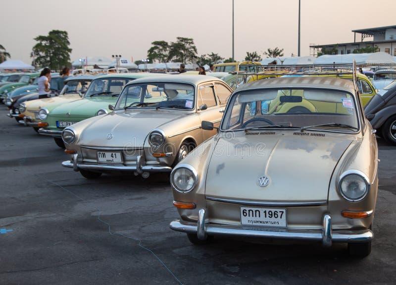 Vintage VW Type 3 owners gathering at volkswagen club meeting royalty free stock image