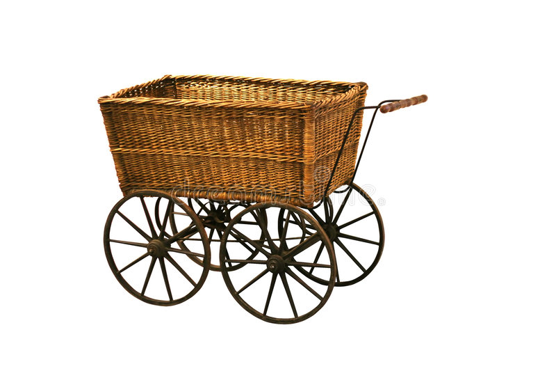 Vintage wagon. (clipping path included stock photo