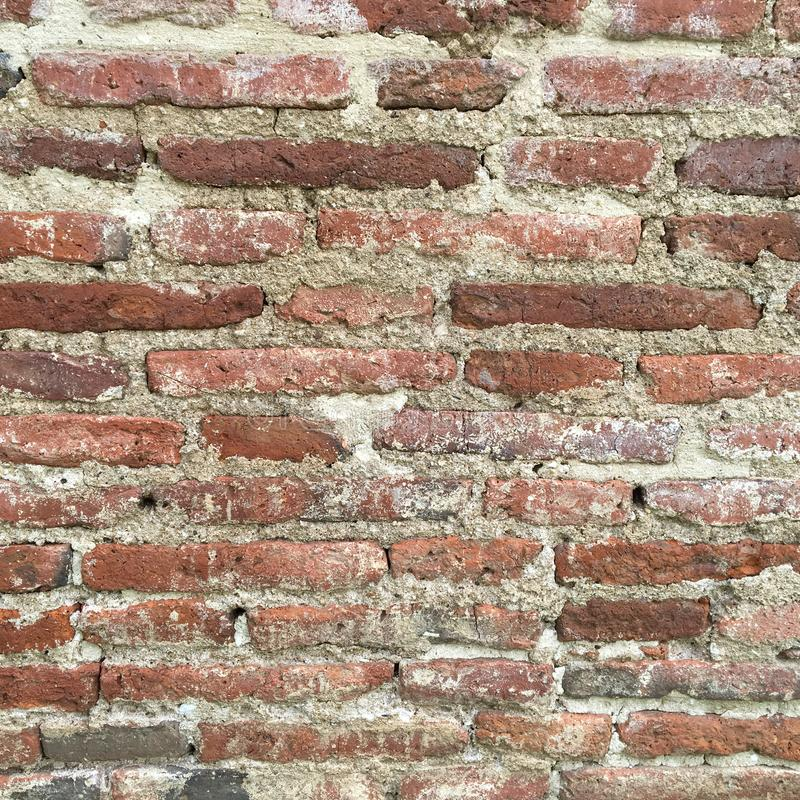 Vintage wall made from brick stock photography