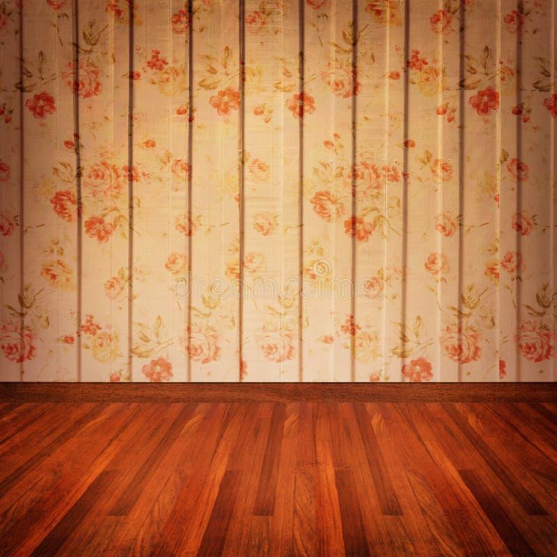 Vintage wall roses pattern stock illustration