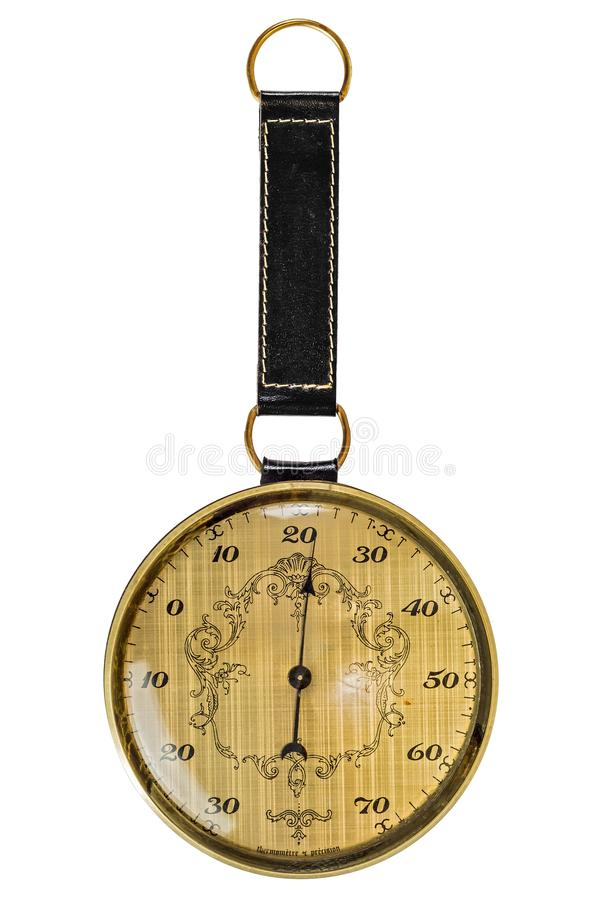 vintage round thermometer  stock photography