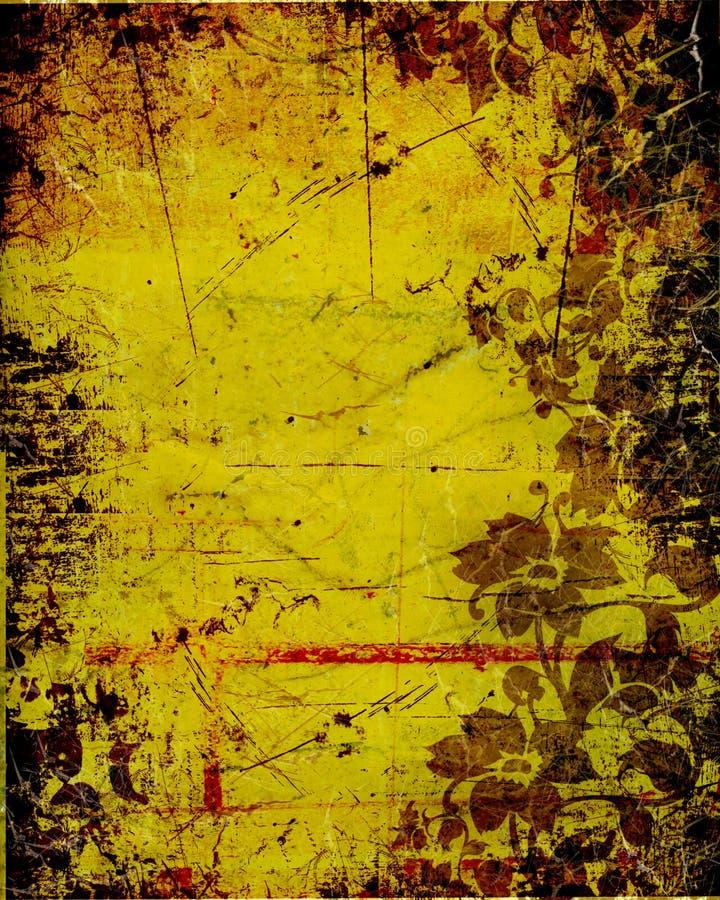 Download Vintage Wallpaer With Floral Details Stock Illustration - Illustration: 1832945