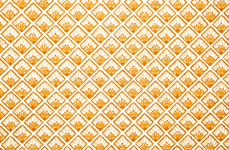 Vintage wallpaper. With a floral and diamond pattern stock images