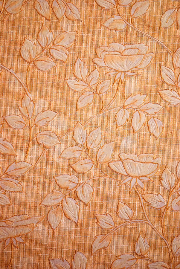 Vintage wallpaper. With flower design royalty free stock photos