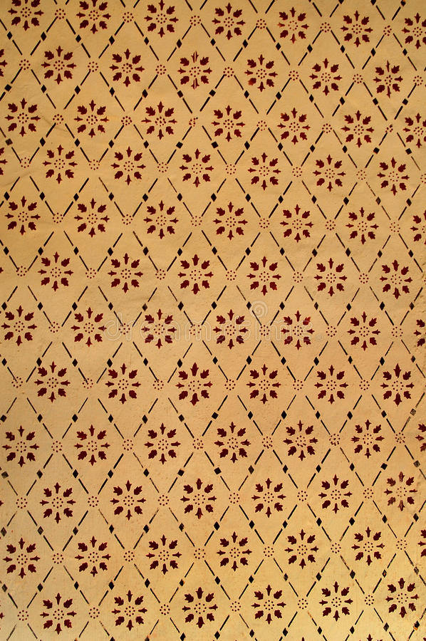 Vintage wallpaper. Detail of an old retro wallpaper royalty free stock photos