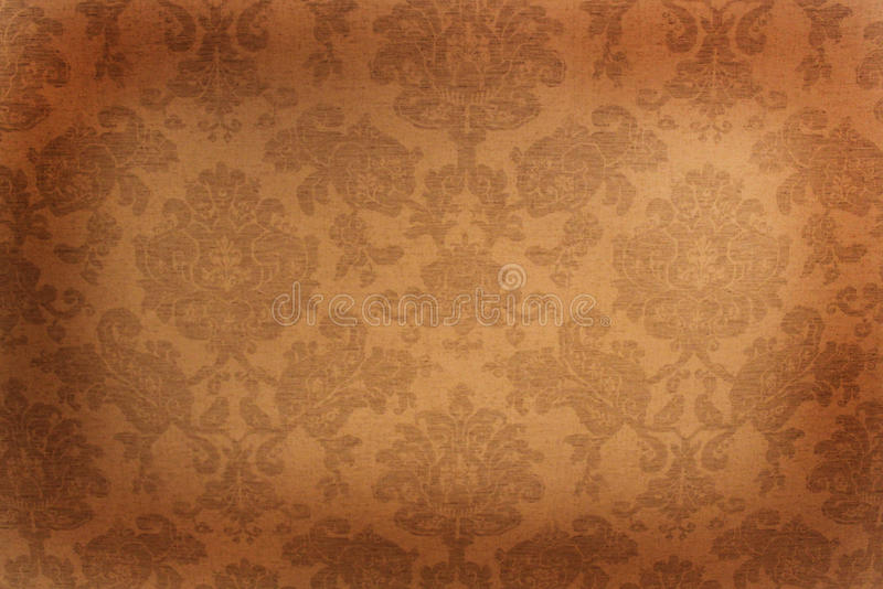 Vintage wallpaper. Frame with floral design royalty free stock images