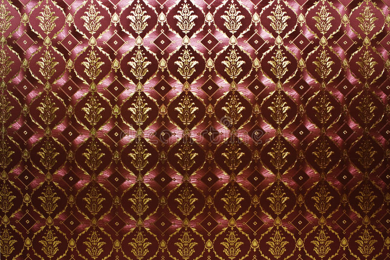 Vintage wallpaper. Red and golden vintage wallpaper stock photos