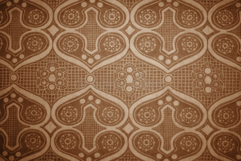 Vintage wallpaper. A vintage wallpaper in sepia tone royalty free stock photography