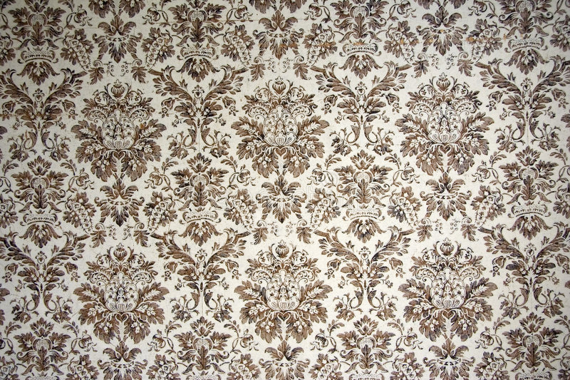 Vintage wallpaper. With brown ornaments - adobe RGB stock images