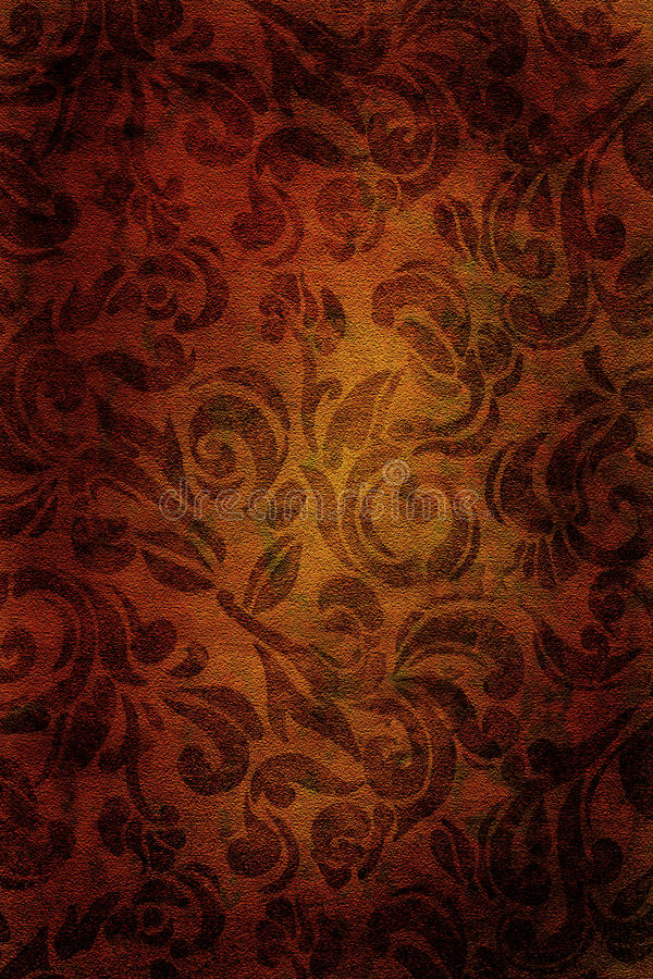 Vintage wallpaper background. Gold vintage wallpaper background with a floral pattern royalty free stock photos