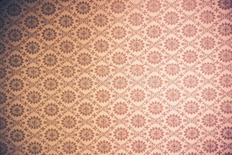 Vintage Wallpaper Background. Old Seamless Wallpaper royalty free stock photo