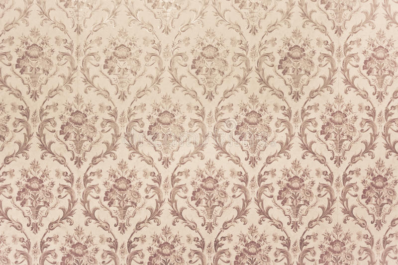 Vintage wallpaper. Close up of vintage wallpaper pattern as a background stock images