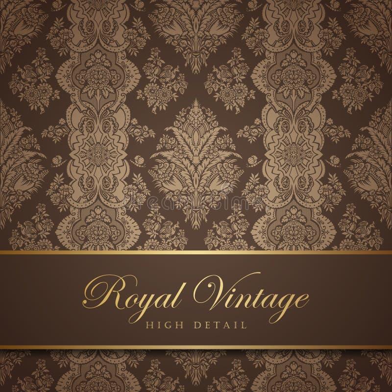 Free Vintage Wallpaper Design. Flourish Background. Flo Royalty Free Stock Photography - 32013127
