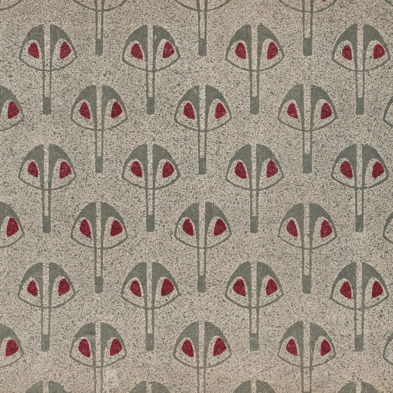 Vintage wallpaper Grey. Used vintage wallpaper - art nouveau - natural grainy surface royalty free stock images