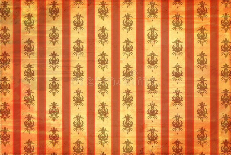 Vintage wallpaper with scratches stock images