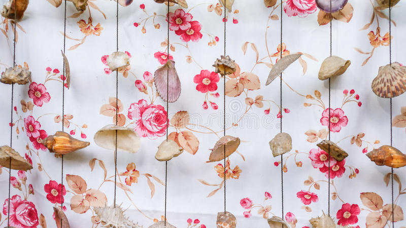 Vintage wallpaper. With shells mobile royalty free stock images