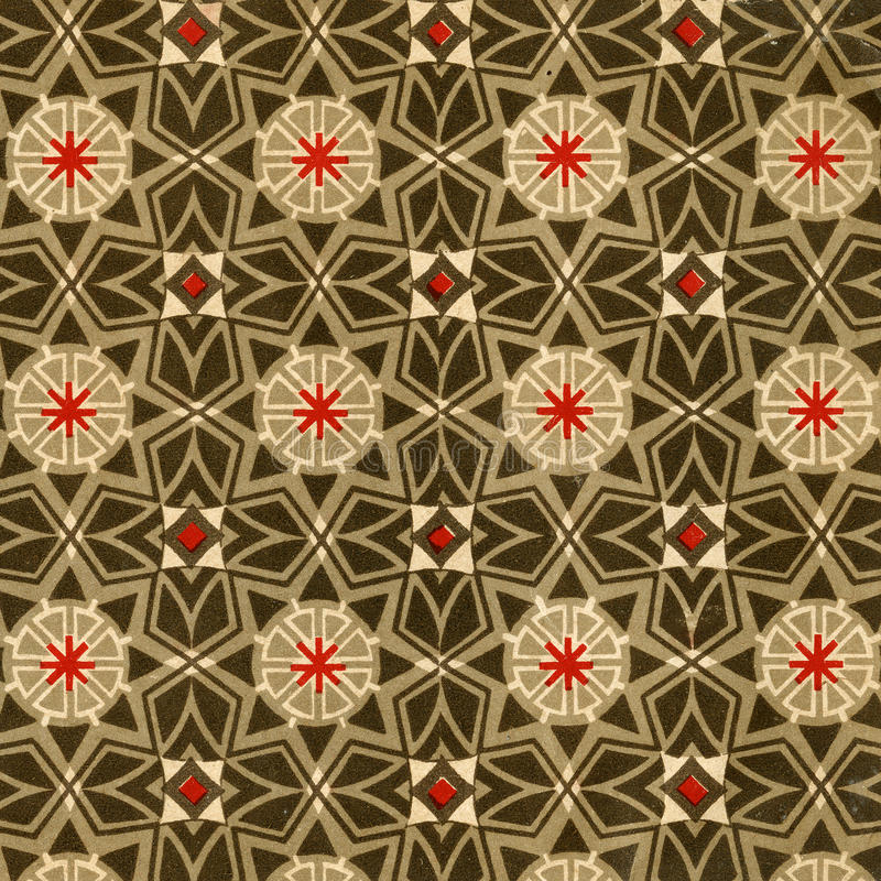 Vintage wallpaper - stars stock image