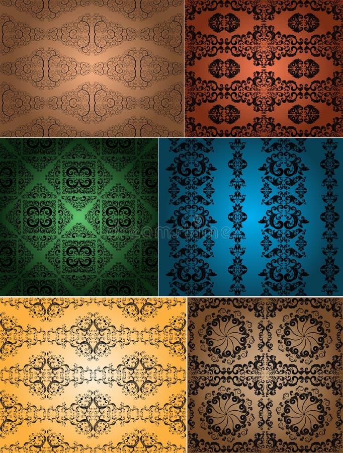 Download Vintage wallpapers stock vector. Illustration of swirl - 29213275