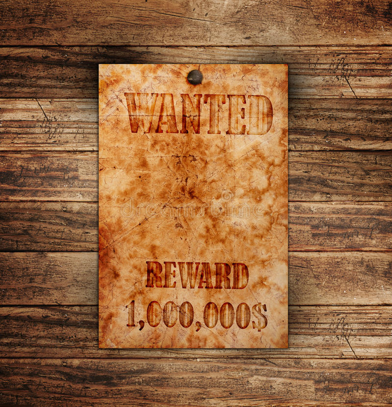 Free Vintage Wanted Poster Stock Photos - 22318083