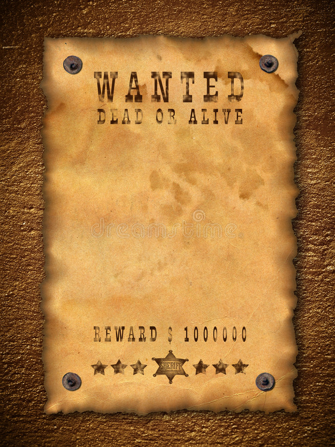 vintage wanted poster stock image. image of background - 8695327, Powerpoint templates