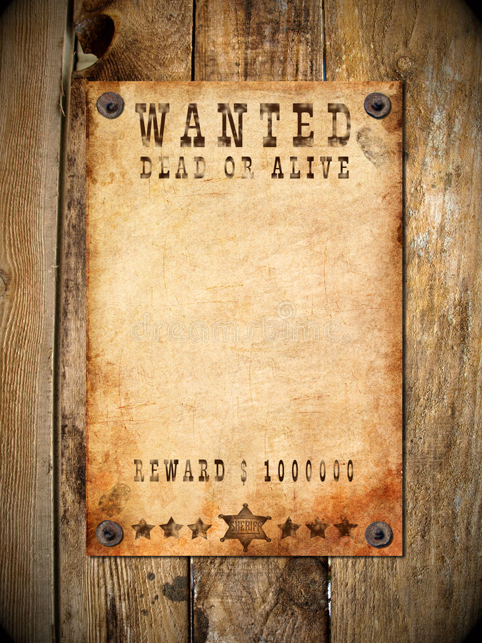 Download Vintage Wanted Poster Stock Images - Image: 8695434
